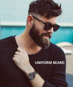 uniform beard