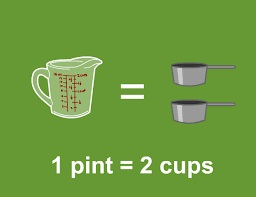 Pints in cup