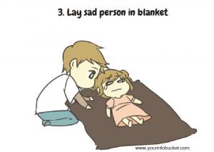 Lay sad person
