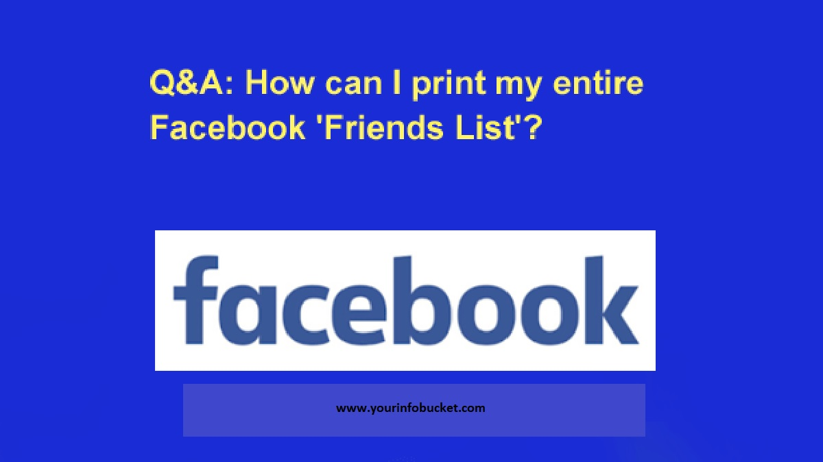How to Print Your Facebook Friends List?