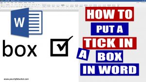 Put a tick in checkbox in word