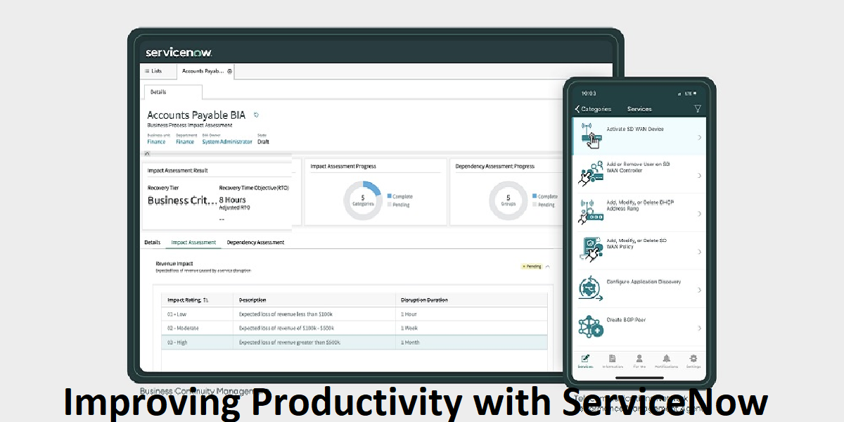 Improving Productivity with ServiceNow Managed Services